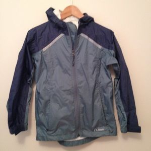 LL Bean kids rain jacket size M 10/12